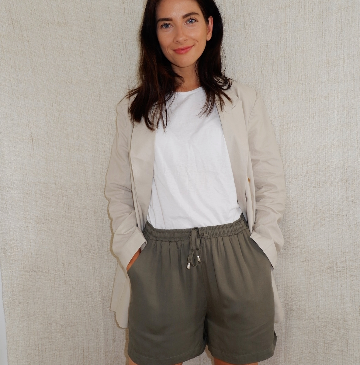 khaki shorts from femme luxe finery